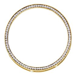 0.50 CTWDiamond Circle Outline Pendant 14KT Yellow Gold - REF-41W9K