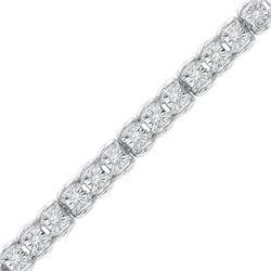0.50 CTWDiamond Tennis Bracelet 10KT White Gold - REF-86X2Y