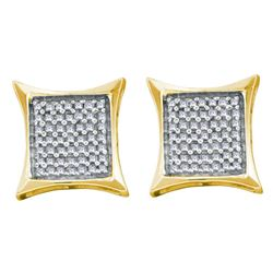 0.66 CTW Diamond Square Kite Cluster Earrings 14KT Yellow Gold - REF-34W4K
