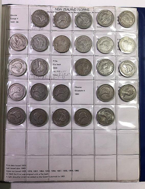 New Zealand, KGV-QEII, Half Penny- Half Crown Collection, 1933-65, Fine-Unc