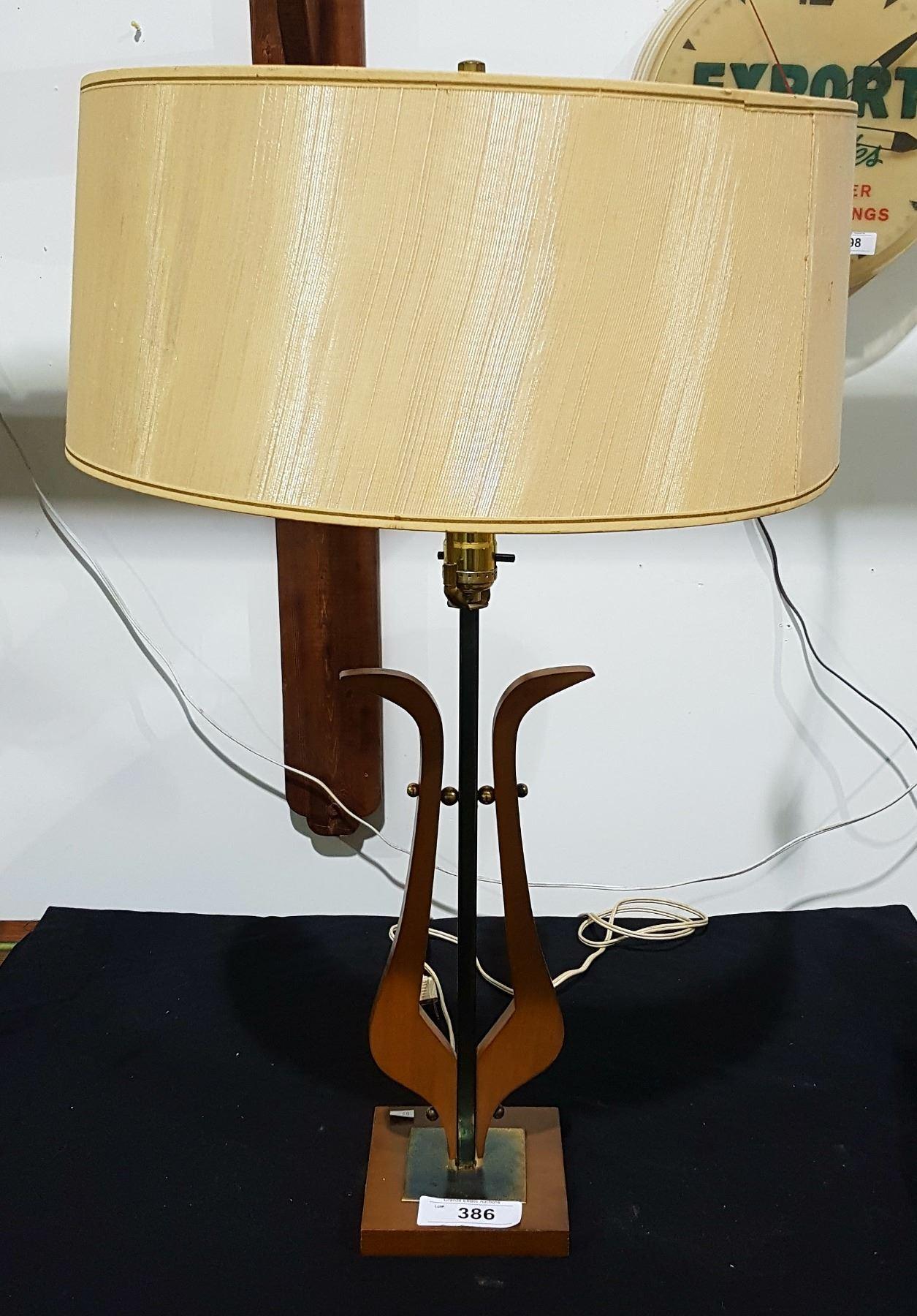Vintage Designer Mid Century Modern Teak Table Lamp