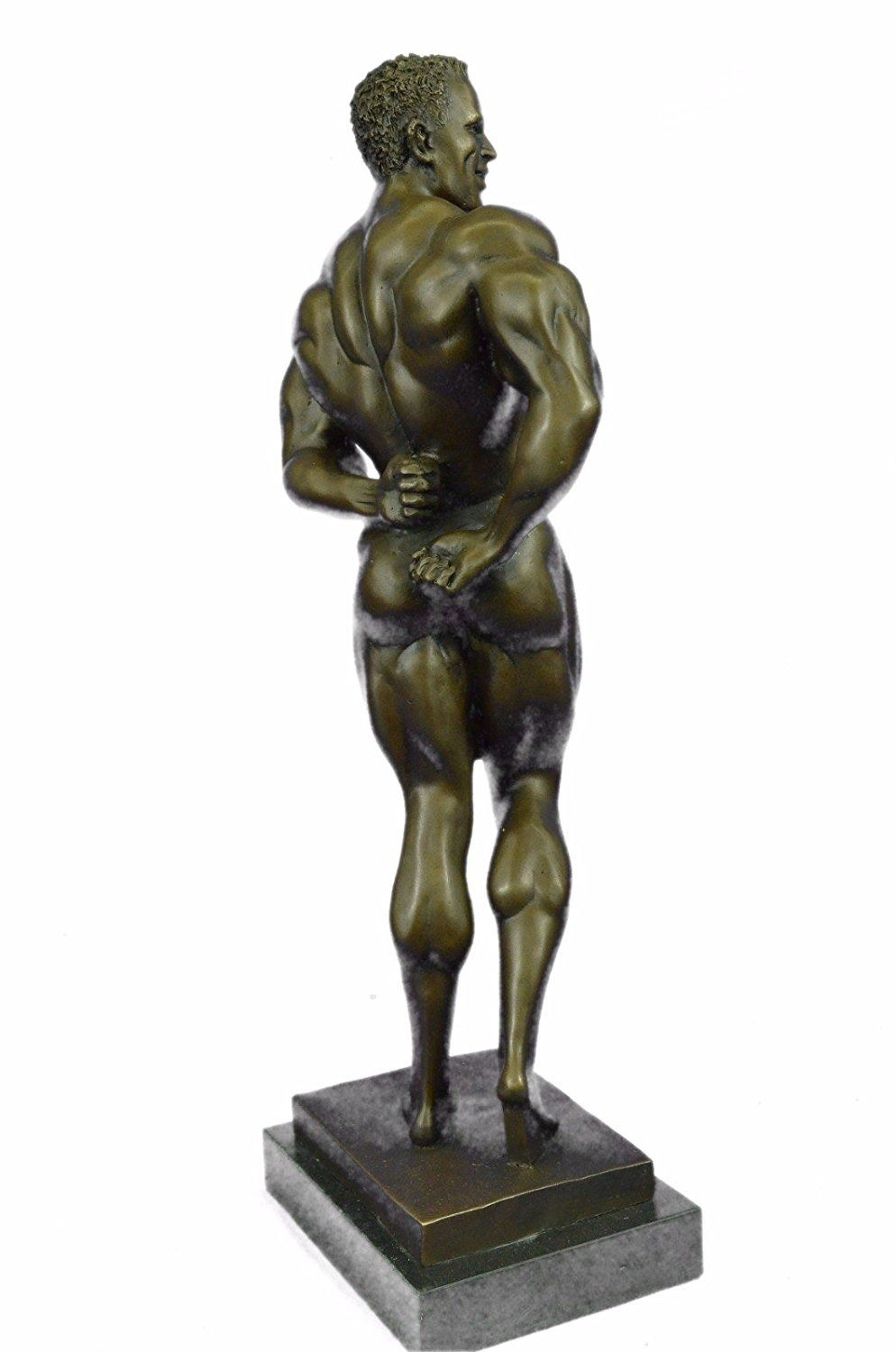 COLLECTABLE NUDE LOVING COUPLE BRONZE STATUE HOT CAST