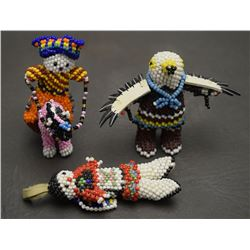 THREE ZUNI BEADED FIGURES