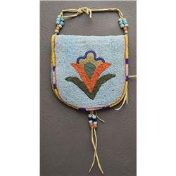 CROW BEADED POUCH