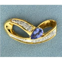 Tanzanite and Diamond Slide