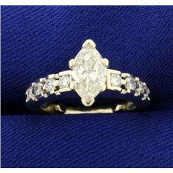 1 1/2 ct TW Marquise Diamond Ring
