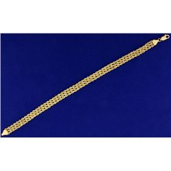 Rope Style Gold Bracelet