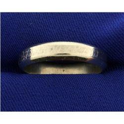 Men's White Gold Wedding Band Ring