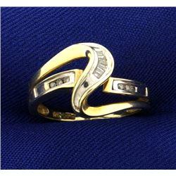Modern Style Diamond Ring