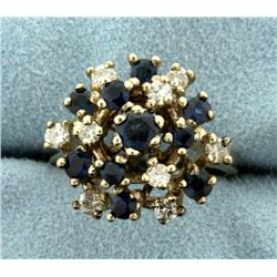 Diamond and Natural Sapphire Ring