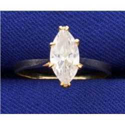 1ct Marquise Solitaire Engagement Ring