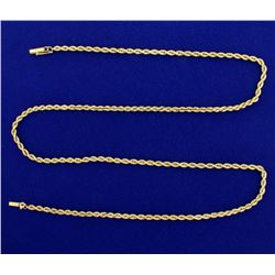 24 1/2 Inch Rope Link Neck Chain in 14k Gold