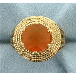 5ct Spessarite Garnet Ring