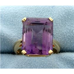 12 ct Amethyst Ring in 14k Gold