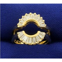 1ct TW Baguette Diamond Ring Jacket in 14k Gold