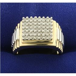 1ct TW Diamond Jubilee Rolex Style Band Ring
