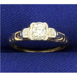 1/4ct TW Vintage Diamond Ring
