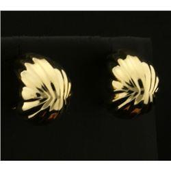 Half Hoop Designer 14k Gold Earrings