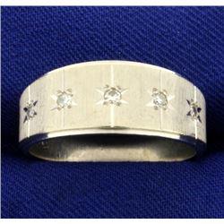 Men's Diamond Band Ring in 14k White Gold