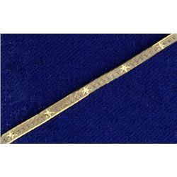 Diamond Cut Italian Made Herringbone Necklace in 14k Gold