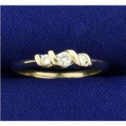 3 Diamond Band Ring in 14K White Gold