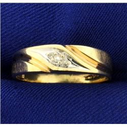 Diamond Band Ring in Yellow and White Gold