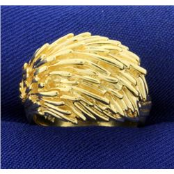 Unique Dome Style Designer Ring in 14K Yellow Gold
