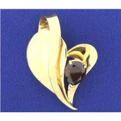 3ct Garnet Gold Slide/Pendant in 14K Yellow Gold