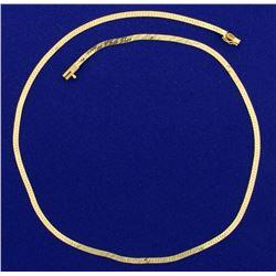 16 Inch Herringbone Neck Chain in 14K Yellow Gold