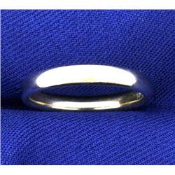 3mm Wedding Band Ring in 14K White Gold