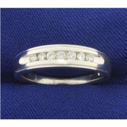 1/4 ct TW Diamond Wedding Band in 14K White Gold