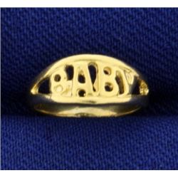 Baby Childs Ring in 14K Yellow Gold