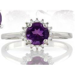 Starburst Amethyst Ring in Sterling Silver