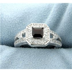 Antique Style Square Cut Garnet Ring