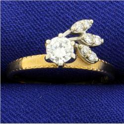 Vintage 1/2 ct Diamond Ring in Unique Setting