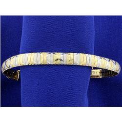 Italian Made Diamond Cut Bracelet