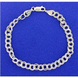 Itlalian Made White Gold 14K Charm Bracelet