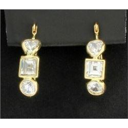 14K Modern Earrings with CZs