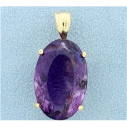 Over 15ct Amethyst Pendant