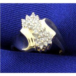 1/4 ct TW Diamond Cluster Ring