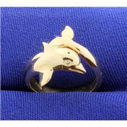 14K Dolphin Ring