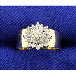 1/2 ct TW Diamond Cluster Ring