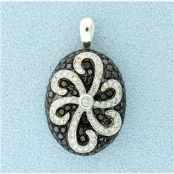 1 ct TW Black & White Diamond Pendant