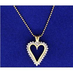 1/2 ct TW Diamond Heart Pendant