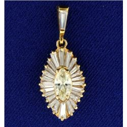 2ct TW Diamond Pendant