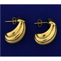 Large Hollow Gold Earrings