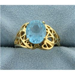 3ct Blue Topaz Ring