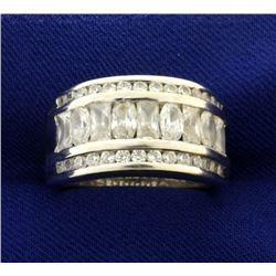 3ct CZ Ring in 14k White Gold