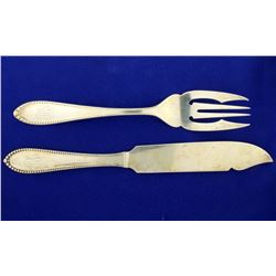 Gorham Virginia Old 21 Piece Fish Fork and Fish Knives Set