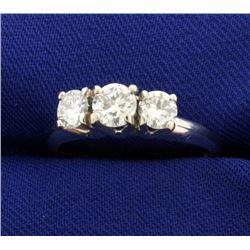 .9ct TW Three Stone Diamond Ring